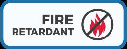 Fire Retardant material icon