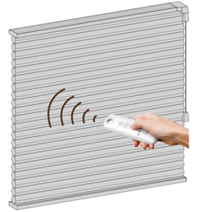 Motorized Cordless operating system for window blinds