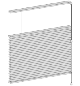 Top Down Bottom Up operating system for window blinds